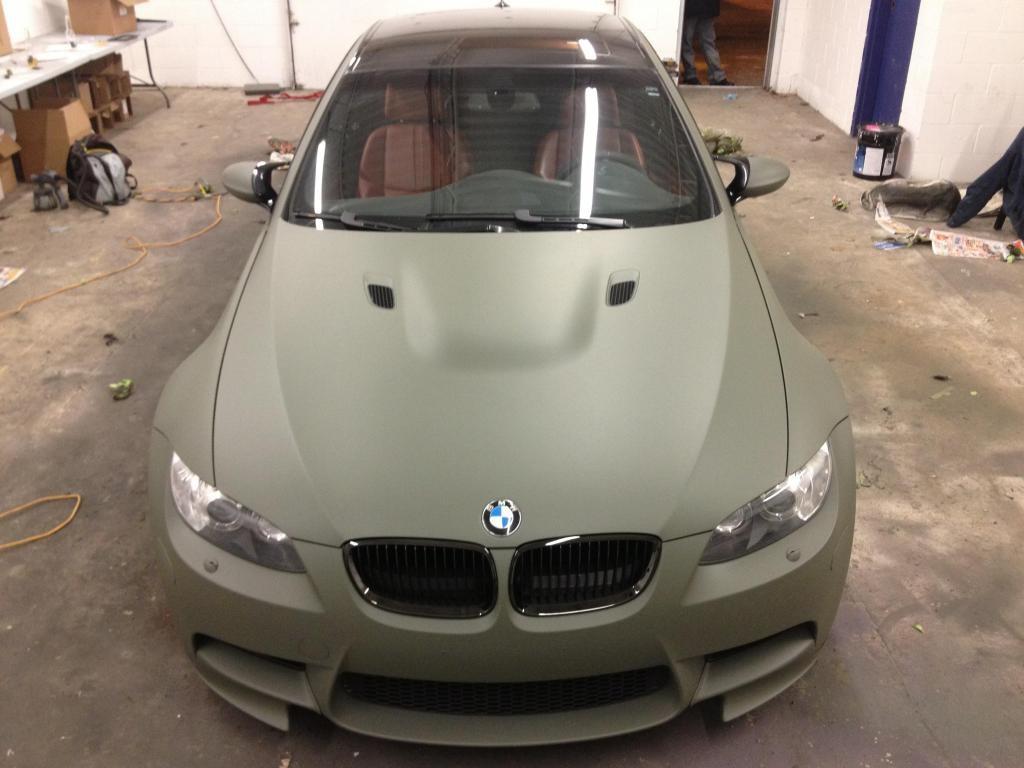 Покраска автомобилей жидкойрезиной PLASTI DIP в СПб BMW_M3_Camo_Green-101
