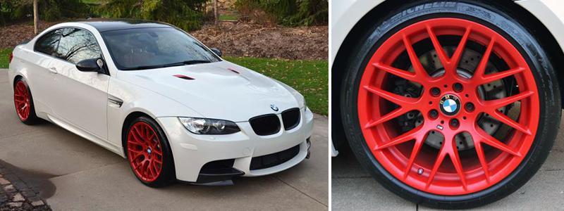 Жидкая резина, покраска СПб Red wheels